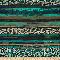 Rio Stretch Slinky Jersey Knit Print Black Green