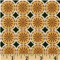 Kaufman Winters Grandeur Metallic Circle Grid Evergreen