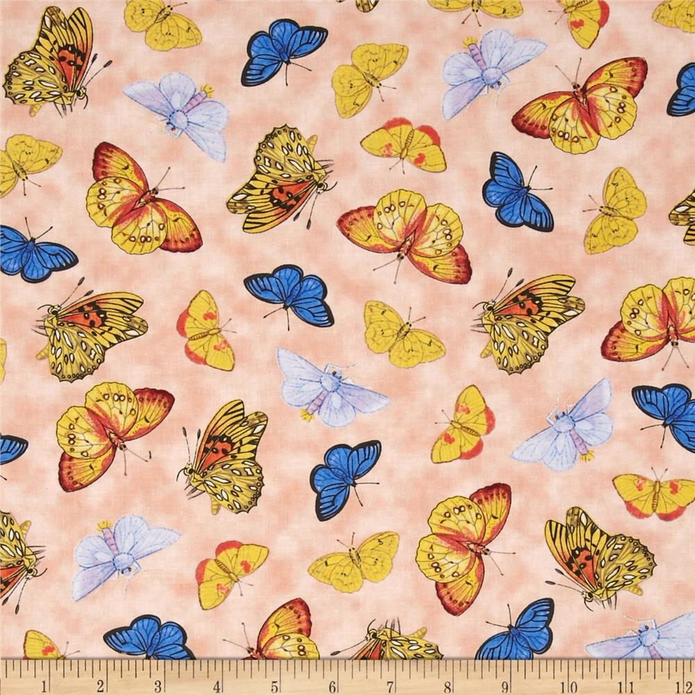Natural Splendor Butterflies Peach