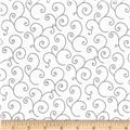 Maywood Studio Kimberbell Basics Scroll White/Gray