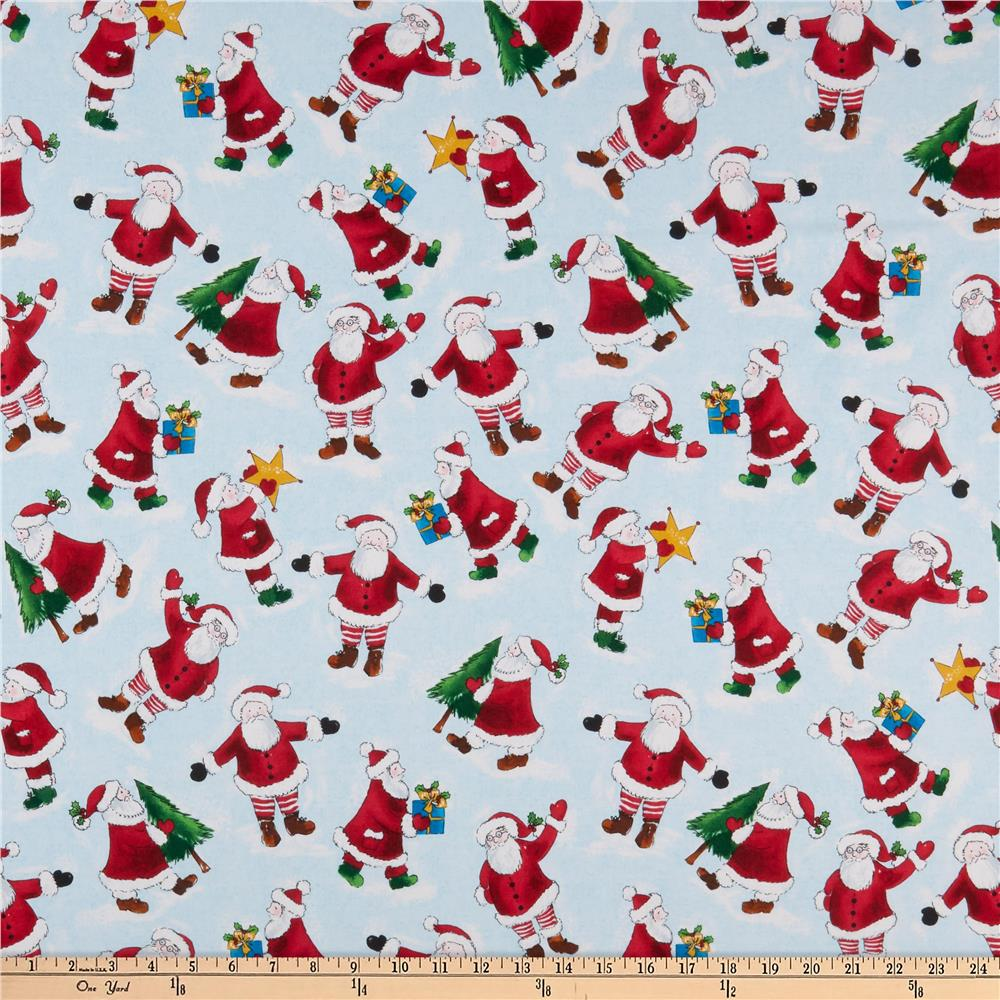 Holly Jolly Christmas.Windham Fabrics Holly Jolly Christmas Santa Ice