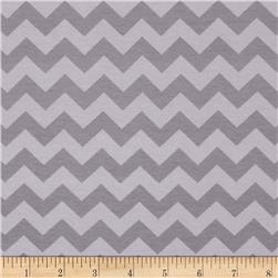 Riley Blake Cotton Jersey Knit Small Chevron Tone on Tone Grey