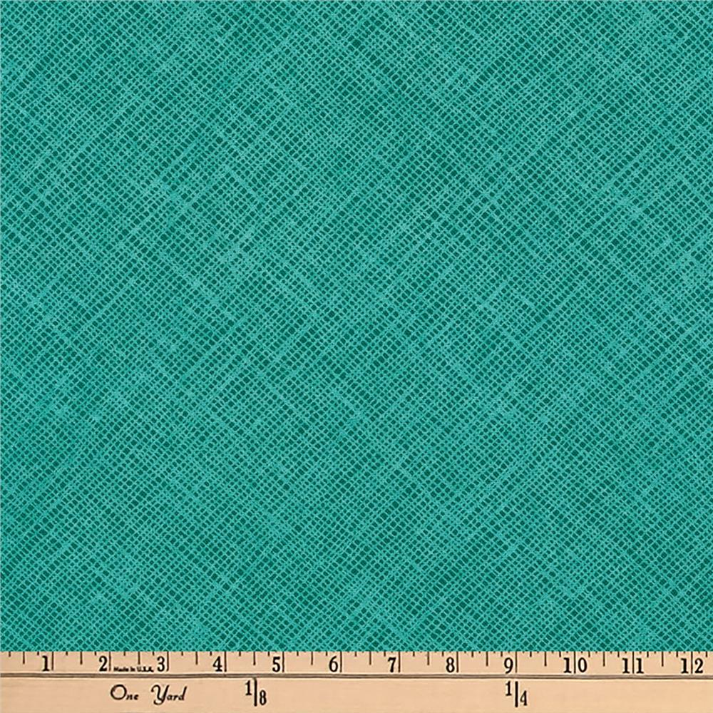 Kaufman Architextures Diagonal Grid Ultra Marine