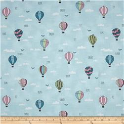 All Afloat Hot Air Balloons Light Turquoise