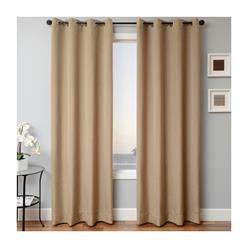 Sunbrella 96'' Solid Grommet Outdoor Panel Heather Brown