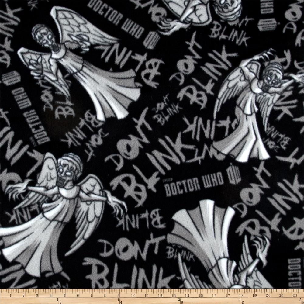 BBC Doctor Who Fleece Weeping Angels Don't Blink Black