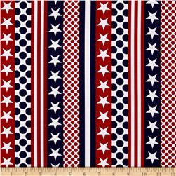 American Anthem Americana Stripe White