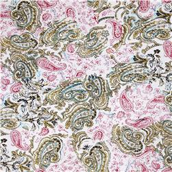 Designer Jersey Knit Printed Paisley Yellow