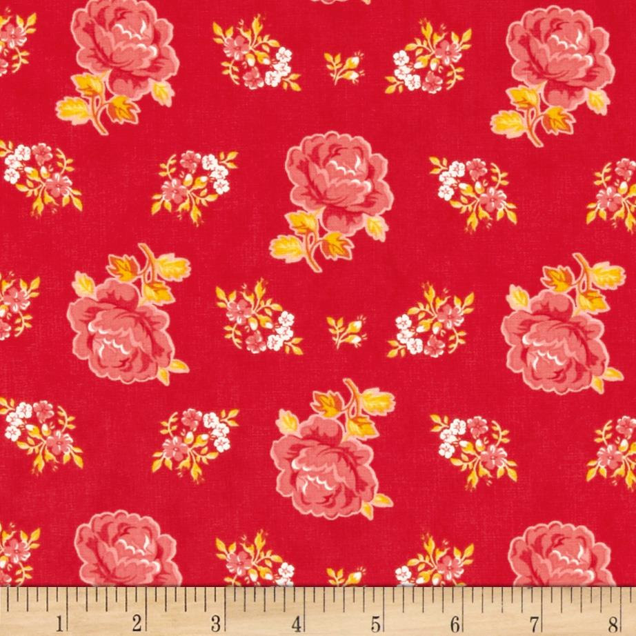 Moda Fancy Hailey Winterberry Red