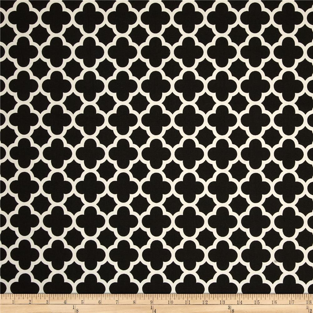 Riley Blake Home Decor Quatrefoil Black