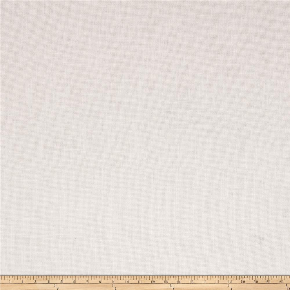 French General Cassis Basketweave Linen Ivory