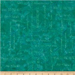 Moda Bobbins & Bits Batiks Words to Quilt by Agean Blue