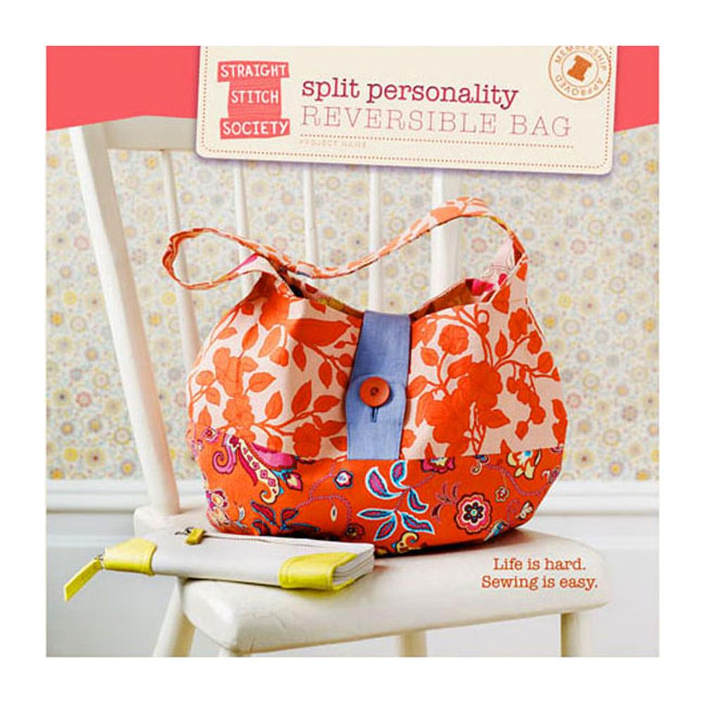 Straight Stitch Society Split Personality Reversible Bag Pattern