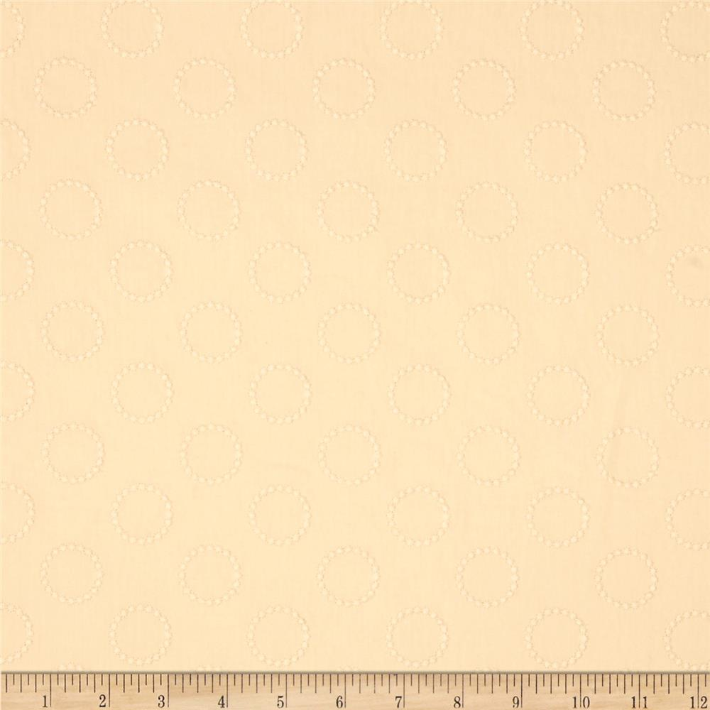 Kaufman Rebecca Embroidered Eyelet Circle Natural
