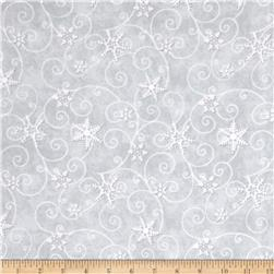 Arctic Antics Flannel Swirl Gray/White
