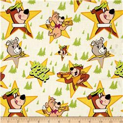 Yogi Bear Characters in Stars Light Green