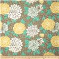 Tempo Indoor/Outdoor Cathy Floral Taupe/Teal