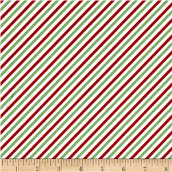 Riley Blake Pixie Noel Stripe Green