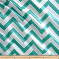 Mi Amor Duchess Satin Chevron Jade/White