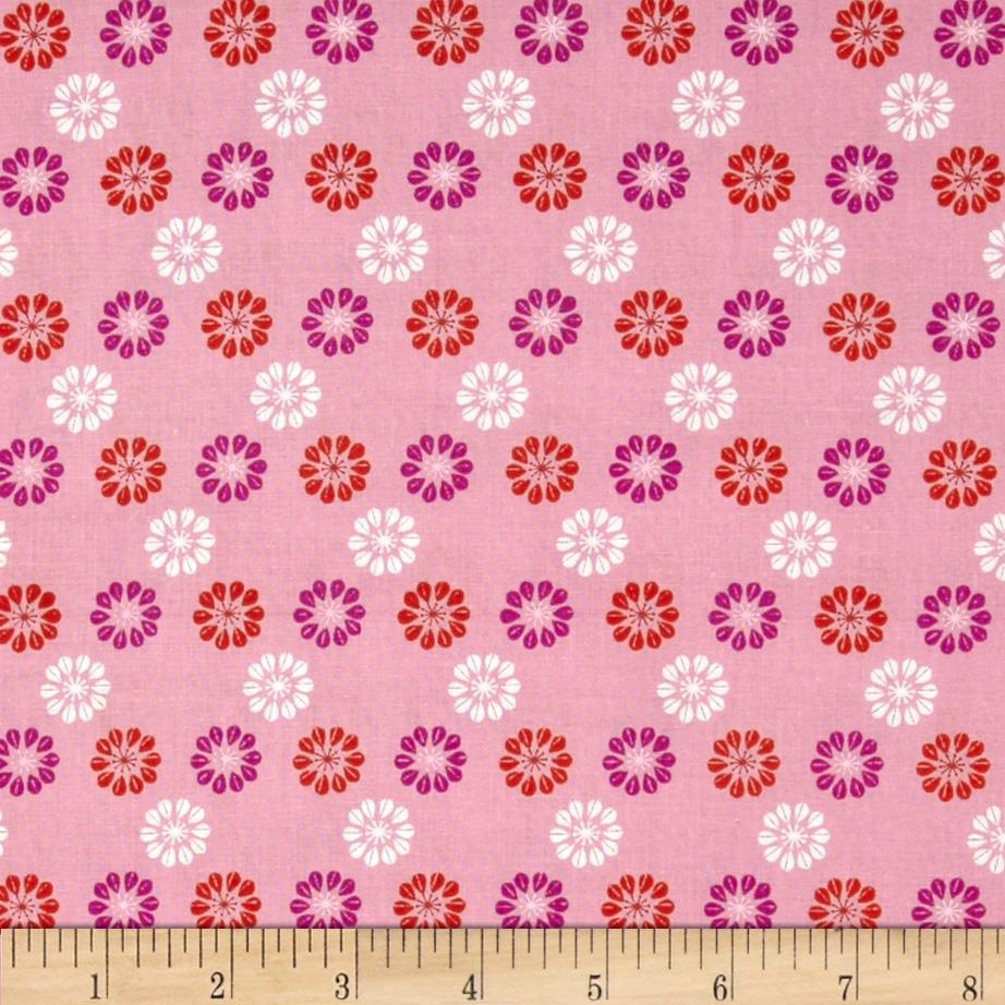 Cotton + Steel Mustang Daisies Pink