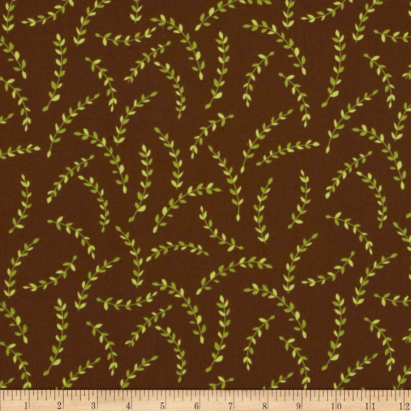 Knock Knock Vines Brown Fabric