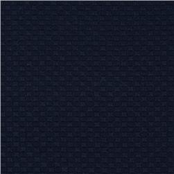 Bermuda Stretch Pique Navy Fabric