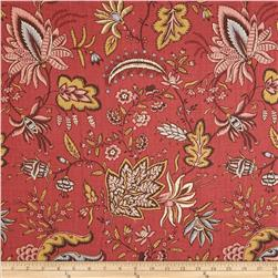 French General Gourdon Floral Blend Rural Red