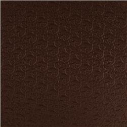Luxury Faux Leather Embossed Floral Coffee Bean
