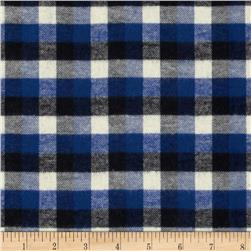 Yarn Dyed Flannel Plaid Royal/Black/Ivory