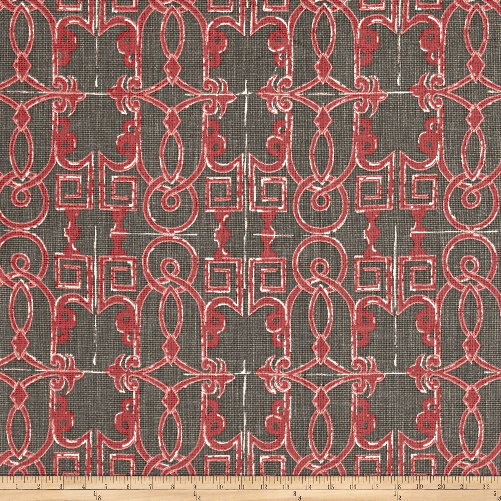 Lacefield Seville Basketweave Salmon Fabric by Lacefield in USA