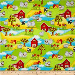 Knit Happy Sheep & Barn Scenic Black