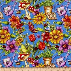 Garden Glory Garden Allover Blue