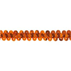 3/8'' Stretch Metallic Sequin Trim Orange