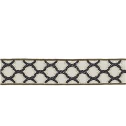 "Fabricut 1.5"" Decor Trim Charcoal"
