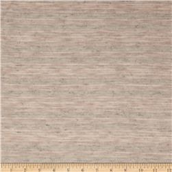 Stretch Tissue Slub Hatchi Knit Tan/Grey Fabric
