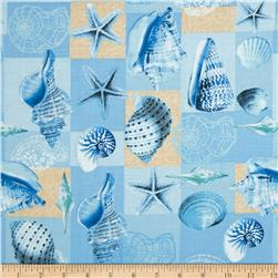 Exclusively Quilters Inspirations Shells in Boxes Blue