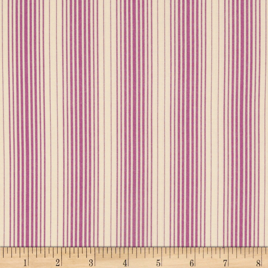 Joel Dewberry Bungalow Stripes Lavender Fabric