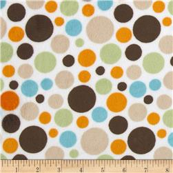 Minky Cuddle Classic Bubble Dot Brown Fabric