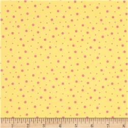 Kimberbell Little One Flannel Too! Flannel Random Dots Yellow Pink