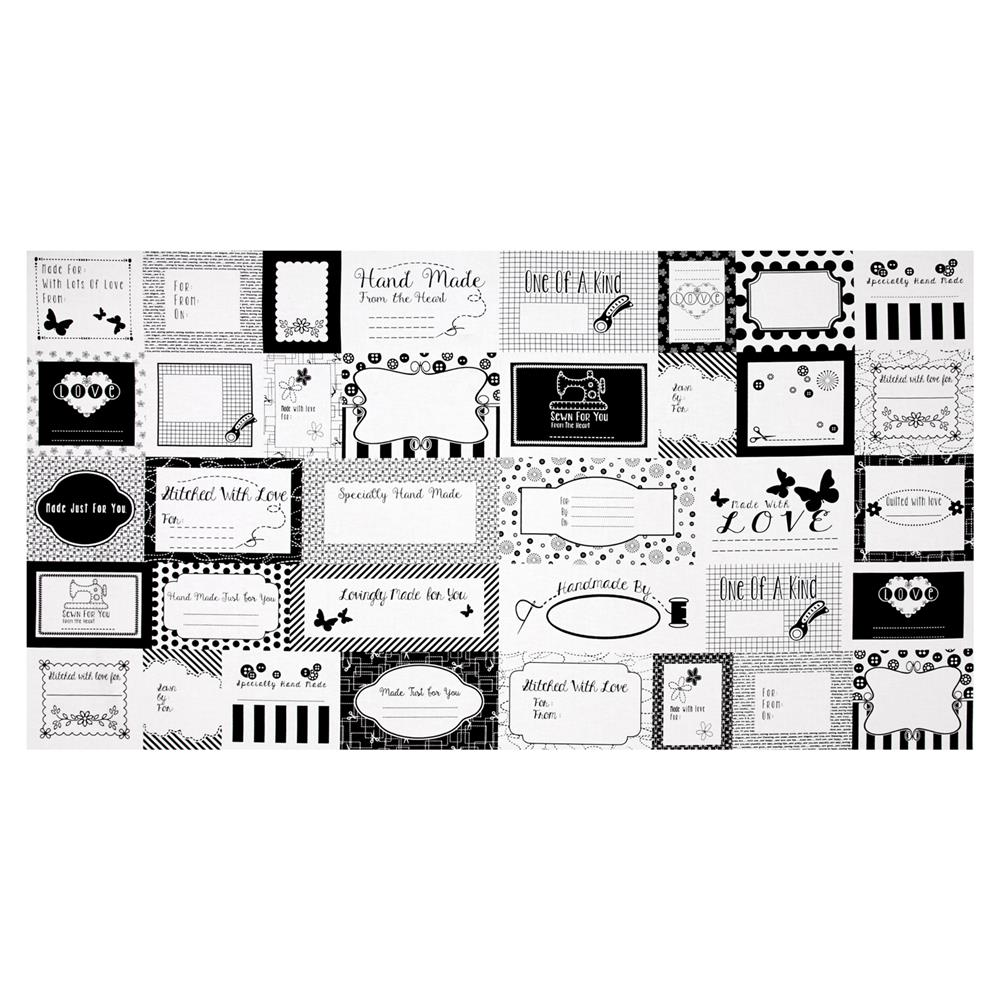 Small Talk Sewing Label Panel Black