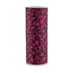 Tulle Spool Glitter Dots Black/Fuchsia Fabric
