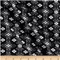 Italian Diamond Jacquard Double Knit Gray/Black/White