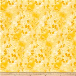 "Ivy 118"" Wide Back Leaves Yellow"