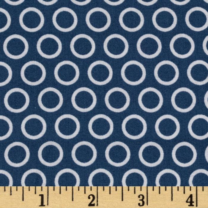 Riley Blake Super Star Cheery Circle Blue