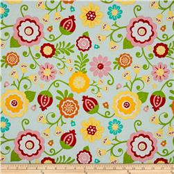Riley Blake Simply Sweet Large Floral Blue