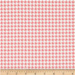 Kimberbell Little One Flannel Too! Flannel Houndstooth White Pink