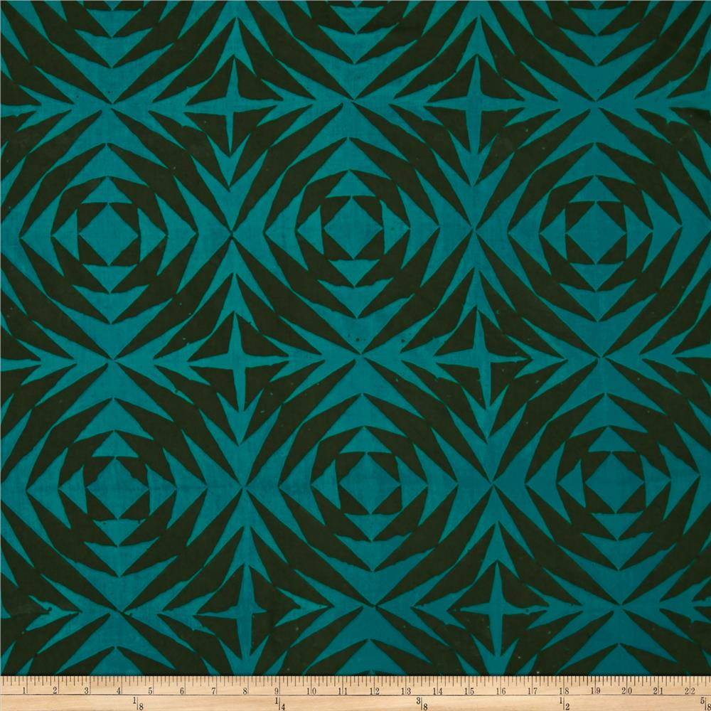Alison Glass Handcrafted Patchwork Batik Pineapple Lagoon Teal