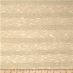 Pointelle Slub Yarn Dyed Jersey Knit Stripe Tan
