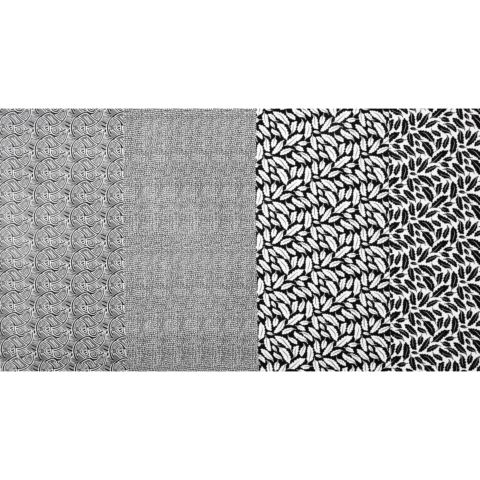 Geniuses Go Wild Patch Stripe Black/White Fabric