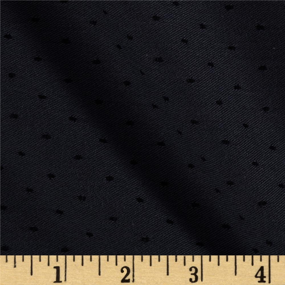 Chicago Jacquard Stretch Denim Pindot Dark Black/Grey